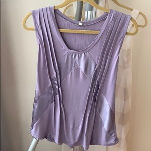 Anthropologie Tops - Anthropologie tank top lilac origami S